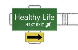 Healthy Life Exit Sign
